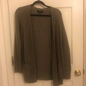 Mossimo Brown Sweater Cardigan